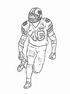 football player coloring pages free printable football