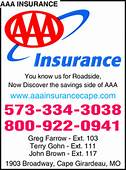 AAA Insurance Cape Girardeau MO 63701  Yellowbook