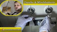 einbau mischbatterie dusche dusche mit thermostat montieren so wird 180 s gemacht