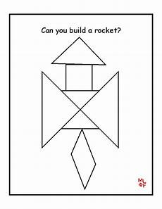 Tangram Kinder Malvorlagen Easy Rocket Tangram Printable Matematik Eğitim Oyun