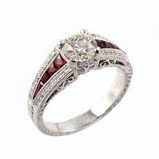 preowned platinum solitaire ruby diamond ring from mr harold and son jewellery uk