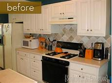 How To Paint Kitchen Tiles Before And After by Before And After Painted Tile Backsplash Kitchen Bath