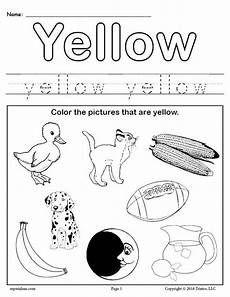 color yellow worksheets for preschool 12892 color yellow worksheet supplyme