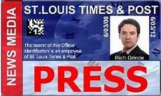 journalist id card template id badge template press pass