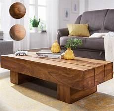 Finebuy Couchtisch Massivholz 120cm Breit Wohnzimmertisch