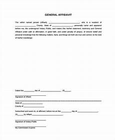 free 42 affidavit forms in pdf