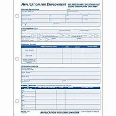 adams 174 employment application forms 8 1 2 quot x 11 quot 1 part