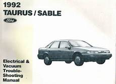 old car manuals online 1990 mercury sable windshield wipe control 1992 ford taurus mercury sable electrical and vacuum troubleshooting manual