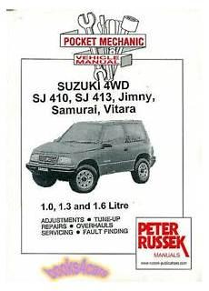 automotive repair manual 1989 suzuki sidekick free book repair manuals suzuki samurai vitara jimny shop manual service repair book sj410 sj413 russek ebay