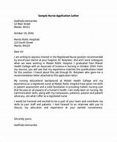 exle of aplication leter for nursing training sle application letter 18 exles in pdf word
