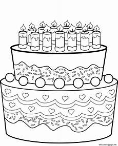 Malvorlagen Cake Birthday Cake Coloring Pages Printable