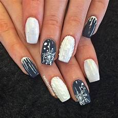 10 beautiful winter sweater nails featuring nail art
