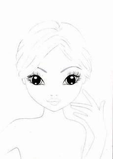 Ausmalbilder Topmodel Gesicht Jk Designergirls Vorlagen Zum Ausdrucken Desenhos