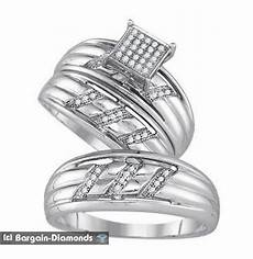 diamond 3 band wedding ring set 15 carats bridal bride
