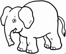 Gratis Malvorlagen Elefant Elefant Klassisch Ausmalbild Malvorlage Tiere