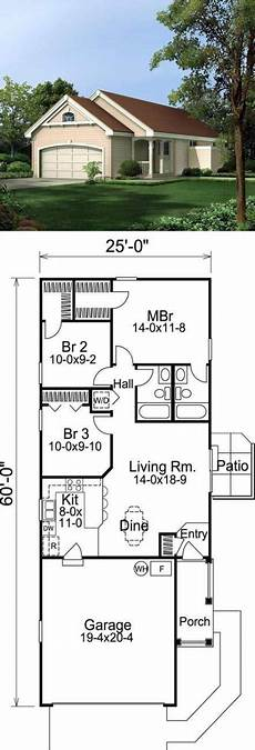 68 trendy house plans narrow lot garage house with