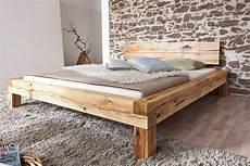Schlafzimmer Bett 200x200 by Bett Doppelbett Balkenbett Wildeiche Massiv Schlafzimmer