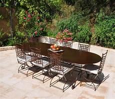 table jardin fer forgé table de jardin en fer table exterieur maisonjoffrois