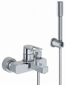 grohe quadra wall mounted bath shower mixer tap with