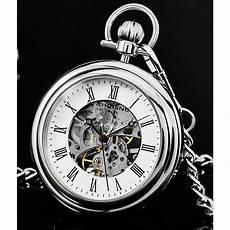 St 252 Hrling Original Elegante Taschenuhr In Silber Aus 316l