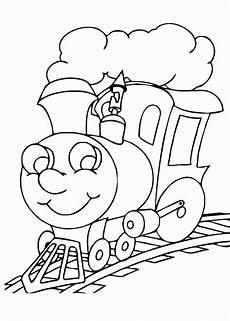 Mewarnai Gambar Kereta Api Versi Kartun Contoh Anak Paud