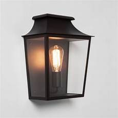 astro richmond outdoor flush wall light textured black