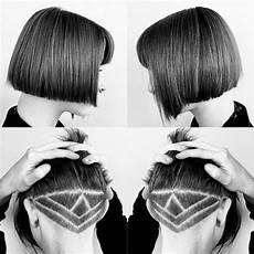 undercut frisuren f 252 r damen geometrische farbige und