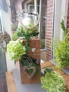 Windlicht Garten Herbstdeko Herbst Dekoration Holzdeko