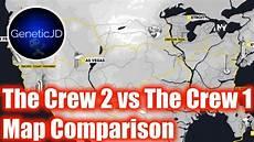 map the crew 2 the crew vs the crew 2 map comparison