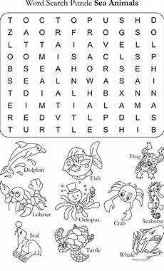 learning animals worksheets 13934 word search puzzle sea animals learning for worksheets for