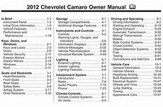 car owners manuals free downloads 1999 chevrolet camaro windshield wipe control chevrolet camaro 2012 owner s manual pdf online download