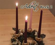 advent week 2 scripture reading and candle