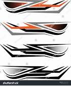 Vehicle Graphics Stripe  Vinyl Ready Vector Art Stiker