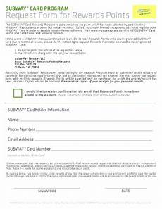 add subway points from receipt form fill out and sign