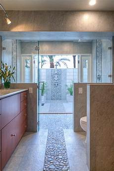 master bathroom with indoor and outdoor shower options hgtv