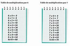 table de 7 les tables de multiplication de 6 et de 7 primaire24