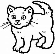 Malvorlagen Katze Gratis Suesse Stehende Katze Ausmalbild Malvorlage Tiere
