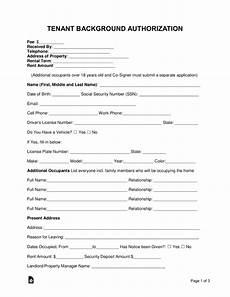 free tenant renter background check form word pdf