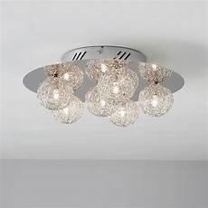 pallas chrome effect 6 l ceiling light departments diy at b q