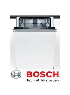 bosch spülmaschine 45 cm geschirrspulmaschine einbau angebote auf waterige