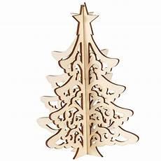 weihnachts deko christbaum 3d holz natur gelasert