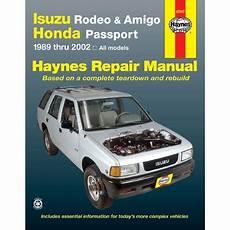 vehicle repair manual 1997 honda passport electronic toll collection 47017 haynes repair manual new for isuzu rodeo honda passport amigo sport 01 02 ebay