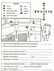 mapping skills worksheets grade 2 11562 pin on things i like