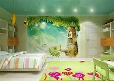 fresque murale chambre enfant 10 dormitorios decorados con murales divertidos ideas
