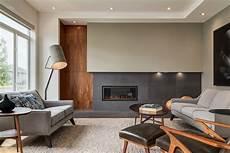 Walnut House Design contemporary interior design with extensive walnut millwork