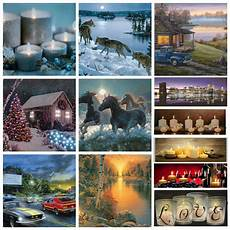led light up lighted christmas canvas painting river horses wall art home decor ebay