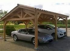 garage 2 places abri voiture 2 places en bois douglas avec toit pente