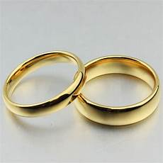 free custom engraving 4mm 6mm couple s simple plain gold wedding rings in tungsten carbide in
