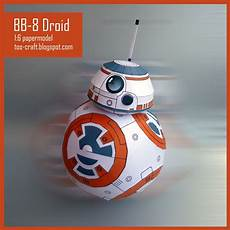 tos craft bb 8 droid wars vii papercraft