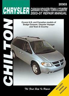 free car repair manuals 2007 dodge grand caravan user handbook caravan voyager town country repair manual 2003 2007 chilton